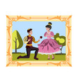 prince and princess in the picture vector image