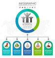 5 parts infographic design and marketing icons vector image vector image