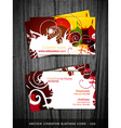 abstract business card design vector image vector image