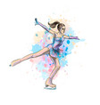 abstract winter sport figure skating girl from vector image vector image