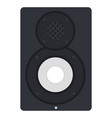 acoustic speaker flat isolated vector image vector image