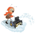 Ant domestic snow-plow Snow thrower vector image vector image