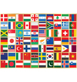 background with flag icons vector image
