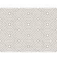 Black and White Subtle Dotted Hexagon vector image