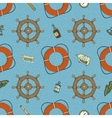 Blue Marine Seamless Pattern vector image vector image