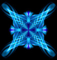 Blue pattern on the black background vector image vector image