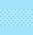 bubbles floating on blue and white tile background vector image