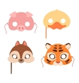 Cartoon animal party mask vector image vector image