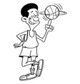 Cartoon basketball player spinning vector image