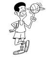 Cartoon basketball player spinning vector image vector image