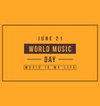 collection background world music day vector image vector image