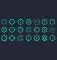 creative of crosshairs icon vector image