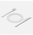 Cutlery isometric 3d icon vector image vector image