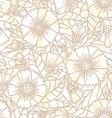 daisy doodle seamless pattern vector image vector image