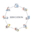 education design concept education design concept vector image vector image