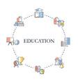 education design concept education design concept vector image