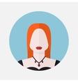 female Scandinavian avatar vector image vector image