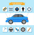 flat car service inforgaphic icons set vector image vector image