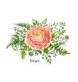 flower bouquet watercolor design element vector image vector image