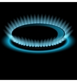 Gas burners blue flame background vector image vector image