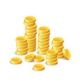 gold coins money cash finance investment isolated vector image