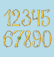 gold digits of a st patrick s day alphabet set vector image vector image