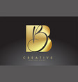 golden letters bb b logo with a minimalist design vector image vector image