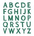 hand-drawn alphabet calligraphy font modern brush vector image vector image