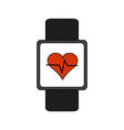 heart rate wrist monitor fitness band icon image vector image vector image