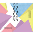 hipster modern geometric abstract background vector image