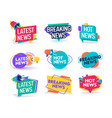 hot latest news daily update badge template set vector image vector image