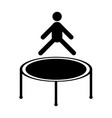 jumping trampoline icon vector image