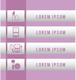make up infographics vector image