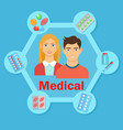 medical flat poster vector image