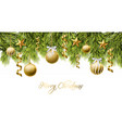 merry christmas white card with golden glitter vector image vector image