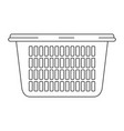 monochrome silhouette of laundry basket without vector image vector image