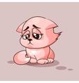 Nice cat sad vector image vector image