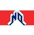 no - international 2-letter code or national vector image vector image