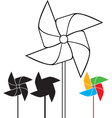 Pinwheel collection vector image
