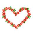 poinsettia heart vector image