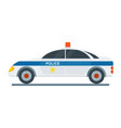 police machine icon vector image