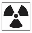 radiation hazard symbol vector image vector image