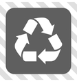 Recycle Rounded Square Button vector image vector image