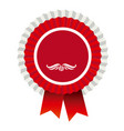red round emblem with ribbon icon vector image vector image