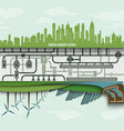 Renewable energy in the big city vector image