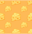seamless pattern with pieces of cheese vector image vector image