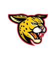 serval wild cat mascot vector image vector image