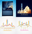 set of attractive background of eid festival vector image vector image