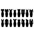set of black dresses vector image vector image