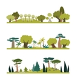 Set of different trees species vector image vector image